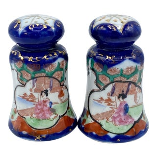 Japanese Porcelain Geisha Girl Salt and Pepper Shakers For Sale