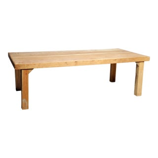 Asian Modern Reclaimed Champaca Wood Dining Table For Sale