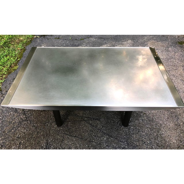 Early 21st Century Stanley Friedman Stainless Steel Dining Table for Brueton For Sale - Image 5 of 13