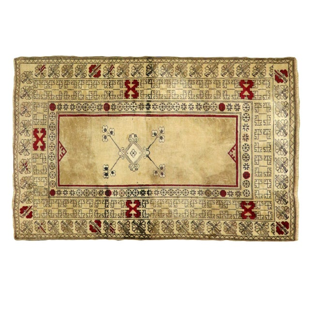"Islamic Traditional Persian Wool Anatolian Rug - 4'4"" X 6'6"" For Sale - Image 3 of 3"