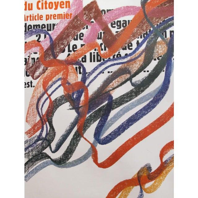 1989 Original Poster for Artis 89's Images Internationales Pour Les Droits De l'Homme Et Du Citoyen - Article Premier For Sale - Image 6 of 6
