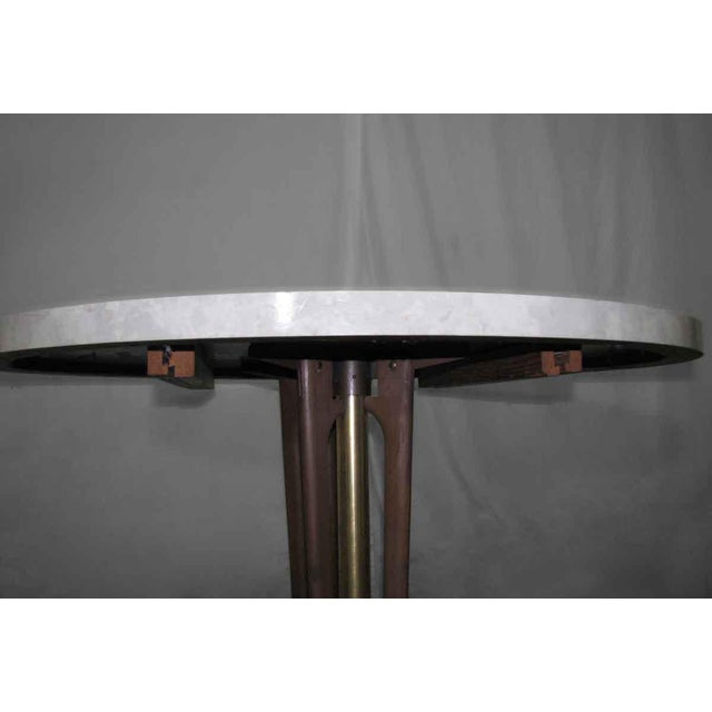 1950s Vintage Round White Table For Sale - Image 5 of 10