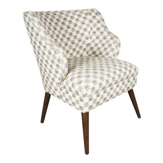 Sculptural Mid-Century Modernist Chair with Splayed Conical Walnut Legs