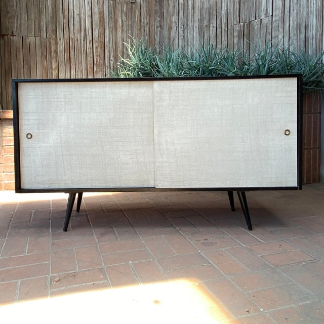 Paul McCobb Planner Group Credenza With Original Ebonized Wood Finish, 1950s For Sale - Image 12 of 12