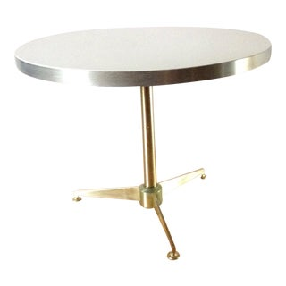 "Paul McCobb Directional Style ""Cigarette"" Side Table Stunning Solid Bar and White Lacquer Side Table Mid 60s For Sale"