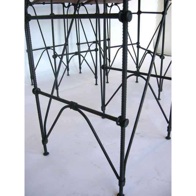 Set of Five Illana Goor Iron Bar Stools For Sale - Image 11 of 11