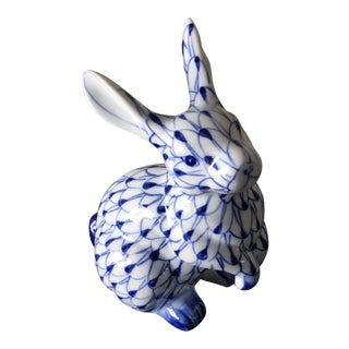 Vintage Herend Style Handpainted Rabbit