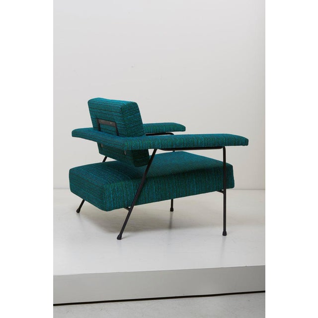 Black Newly Upholstered Lounge Chair by Adrian Pearsall for Craft Associates, Us For Sale - Image 8 of 9