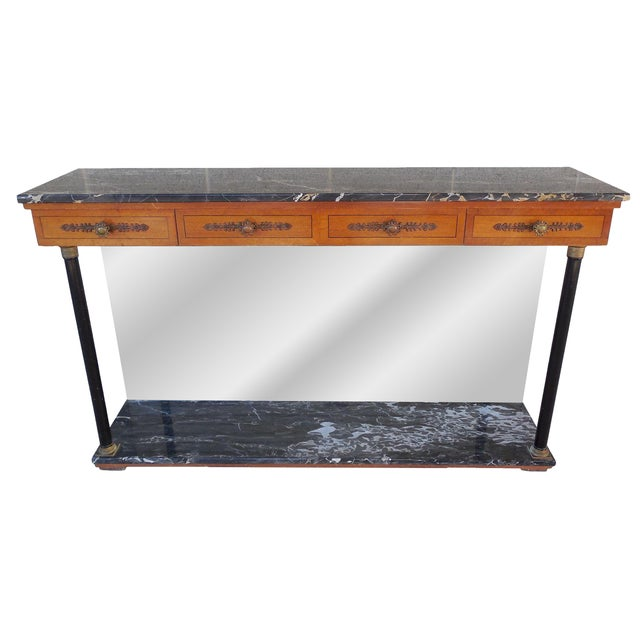 Bethlehem Furniture French Regency Marble Top Console For Sale