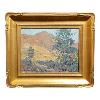 Edwin Roscoe Shrader -Landscape w/Green Trees-California Impressionist-Oil Painting For Sale