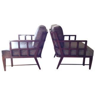 "Dessin Fournir ""Lattice Chairs"" - A Pair For Sale"