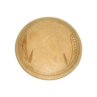 19th Century Carved English Breadboard