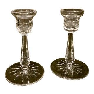 Cut Glass Candlesticks - A Pair