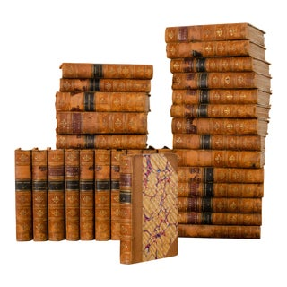 1870 Dickens' Works Chapman & Hall Books - Set of 30 For Sale