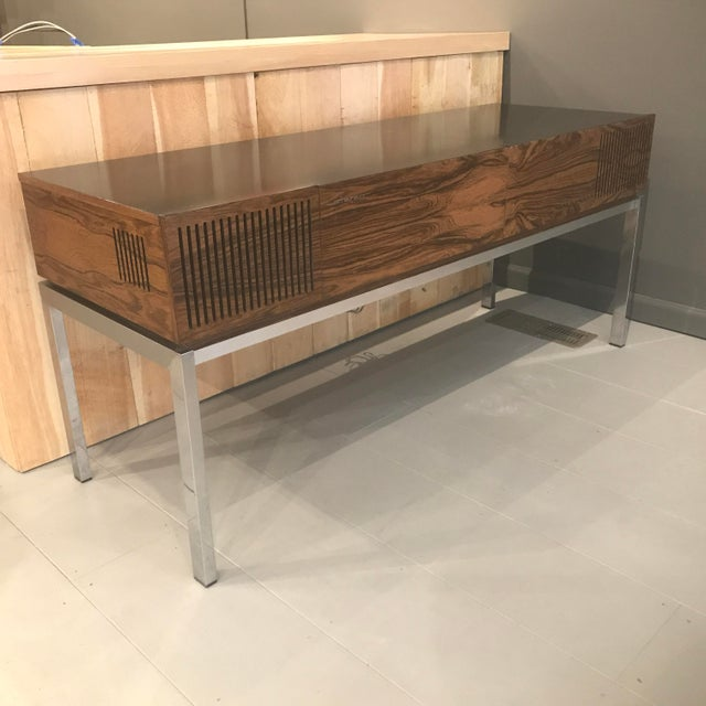 """Metal 1970s Blaupunkt GmbH """"Arizona"""" Rosewood & Chrome Stereo Console For Sale - Image 7 of 13"""