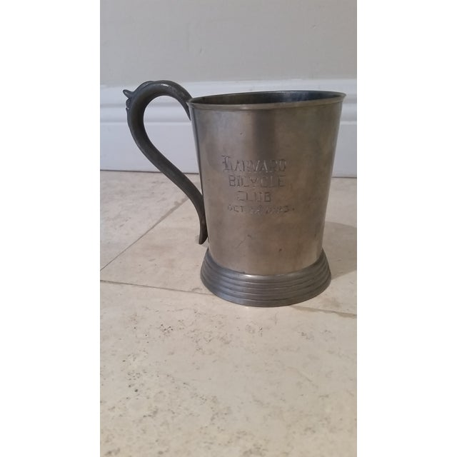 Harvard 1883 Bicycle Club Horses & Hounds Pewter Tankard/Mug For Sale - Image 9 of 9
