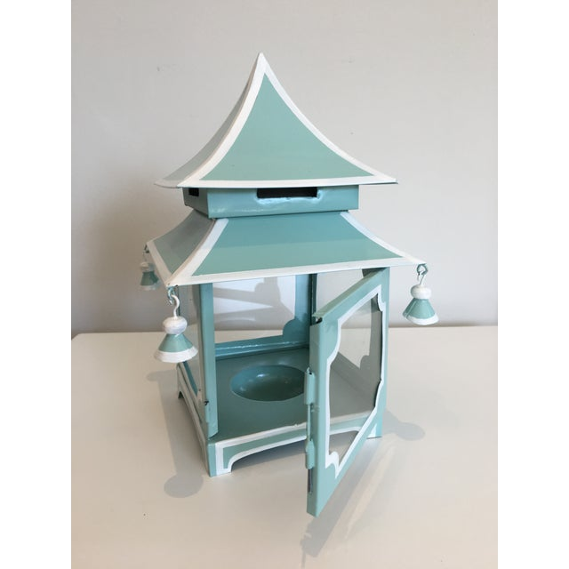 Blue Pagoda Candle Lanterns - A Pair - Image 4 of 4
