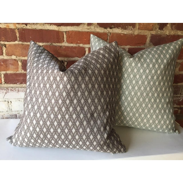 Robert Allen Sage Basket Weave Pillow Cover - Image 4 of 4