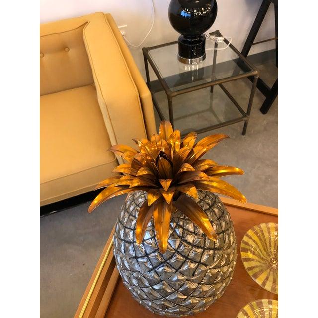 Mid Century Modern Italian Mauro Manetti Pineapple Ice Bucket - Image 5 of 6