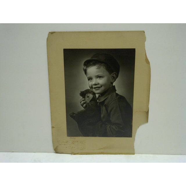"""This is a Vintage -- Black And White Photograph -- """"Ricky"""" -- By Vincent Evans -- Circa 1930 -- The Photograph Is Mounted..."""