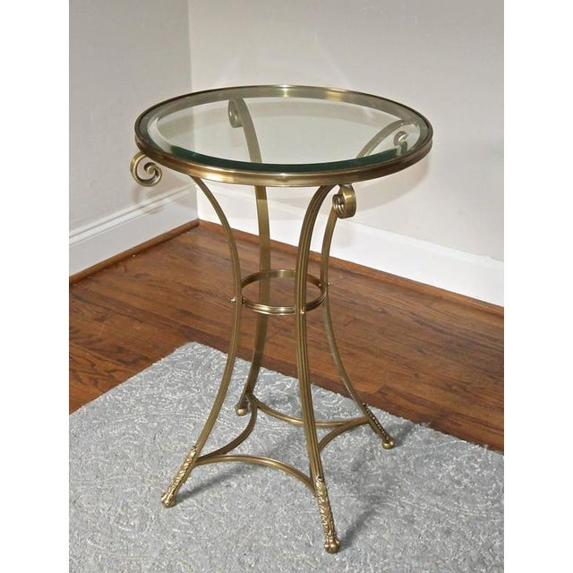 1980s 1980s Vintage Gueridon Brass Paw Footed Table For Sale - Image 5 of 11
