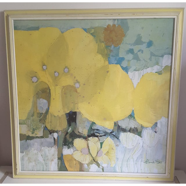 Vintage Mid-Century Artwork Framed Print of Watercolor Painting Signed Alexander Ross For Sale - Image 13 of 13