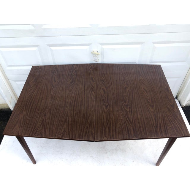 Mid-Century Modern Mid-Century Modern Dining Table With Leaf For Sale - Image 3 of 11