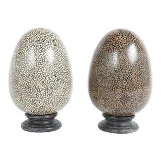 Theodore Alexander Decorative Egg Shaped Obelisks For Sale