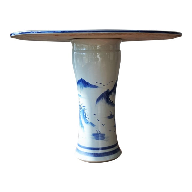 About Set of Traditional Chinese Porcelain Garden Seats & Table Blue And White Floral Motif Garden Stools & Table Side...