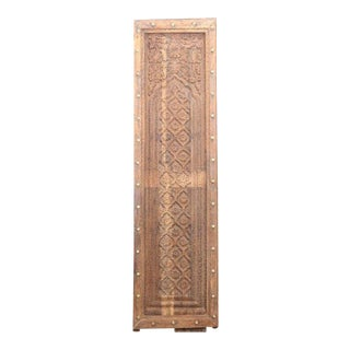 Antique Floral Carved Door Panel
