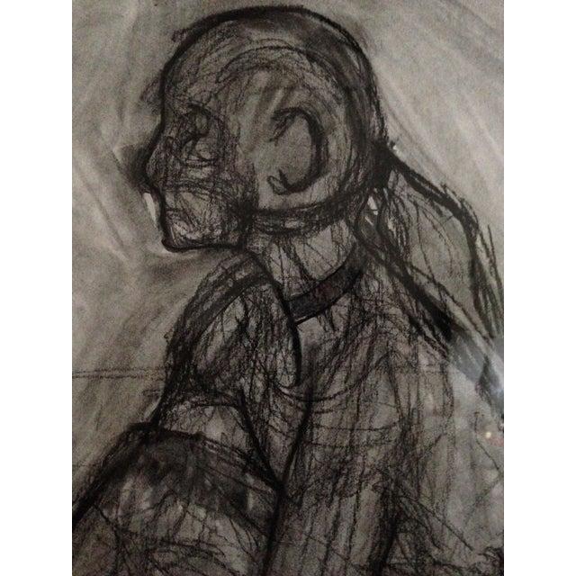 Original Framed Charcoal Nude Sketch - Image 3 of 4