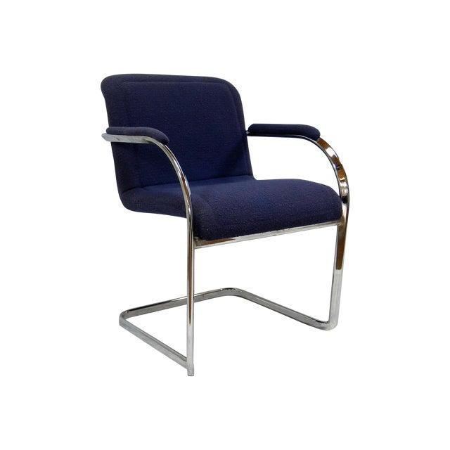 Mid-Century Modern Chrome Arm Chair For Sale