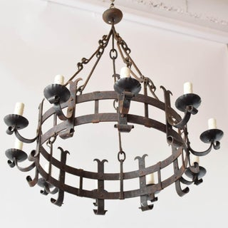 Mid 20th Century Large Rustic Iron Chandelier Preview