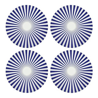 """Constellations Point, 16"""" Round Pebble Placemats, Set of 4 For Sale"""