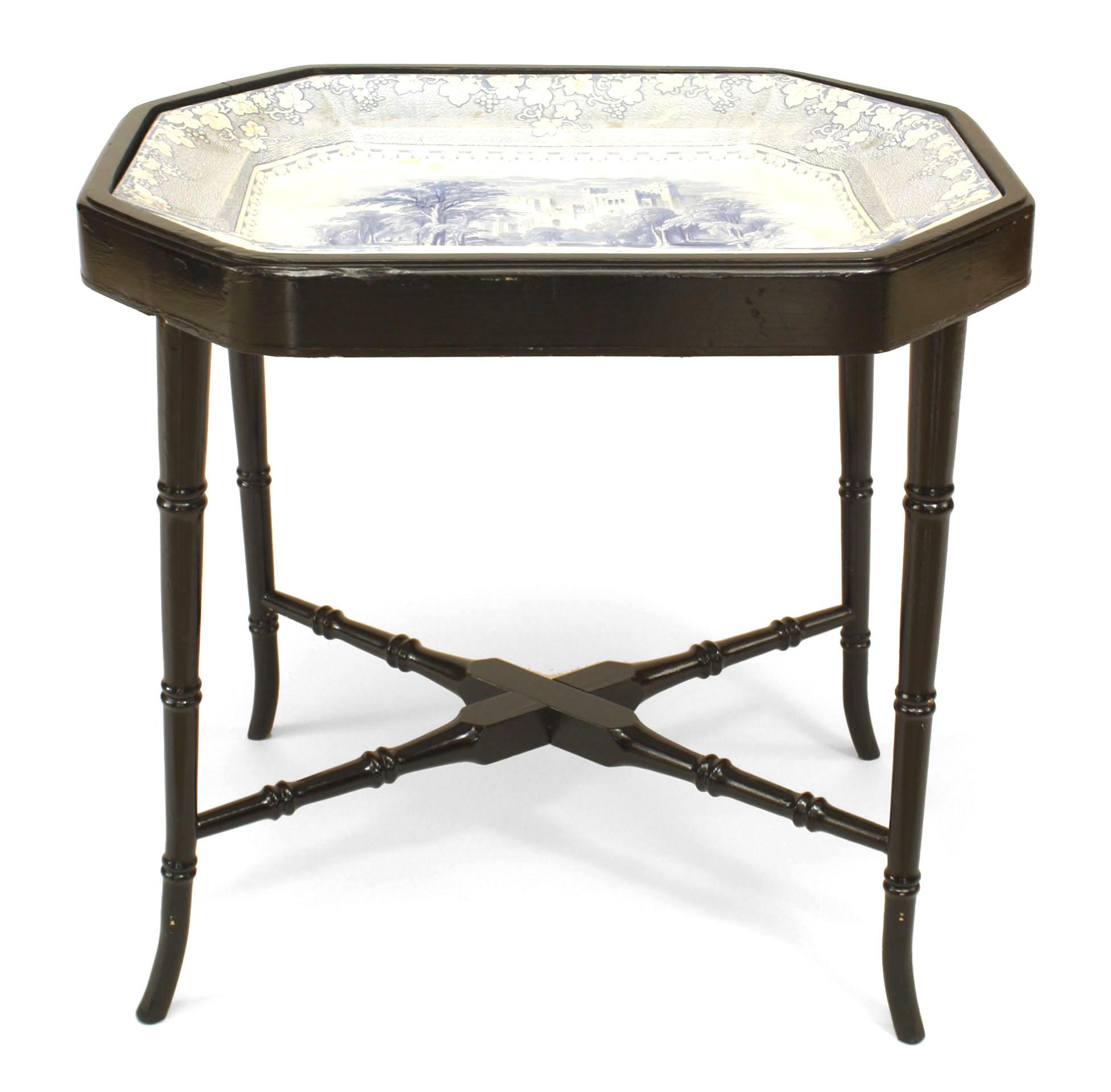 Victorian End Table Traditional English Victorian Coffee Table For Sale - Image 3 of 3