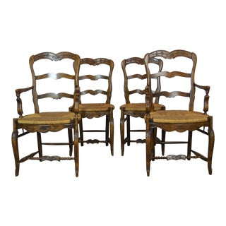 1970s VintageFrench Provincial Dining Chairs- Set of 4 For Sale