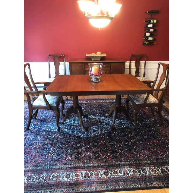 1980s Craftique Solid Mahogany Dining Set For Sale - Image 5 of 10