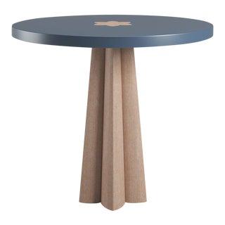 Danielle Newburyport Blue Side Table - Natural Cerused Oak For Sale