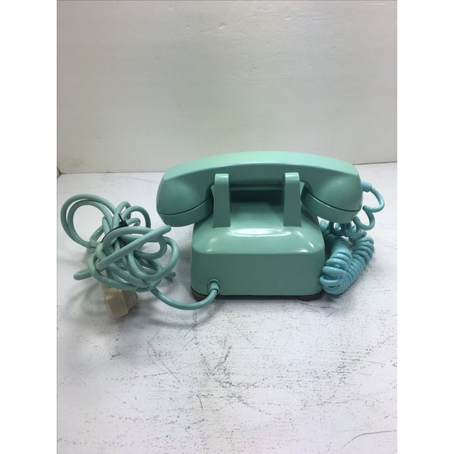 Turquoise 500 Rotary Dial Desk Phone - Image 4 of 11