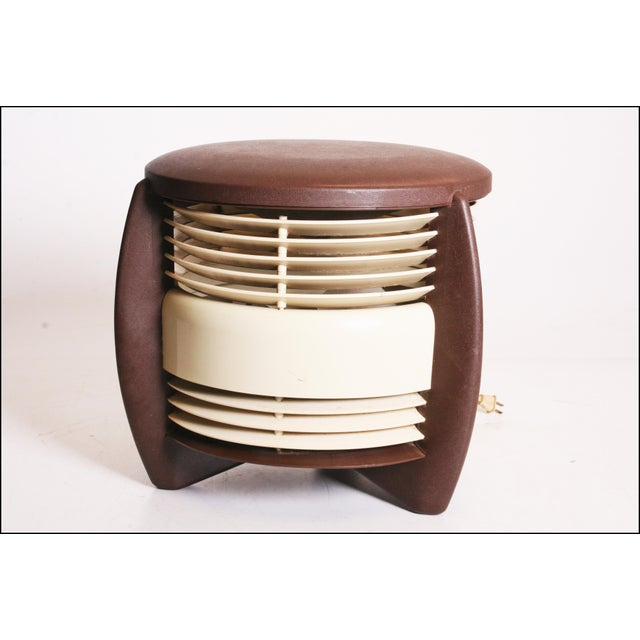 Brown Mid Century Modern Hassock Stool Fan with Original Box For Sale - Image 8 of 11