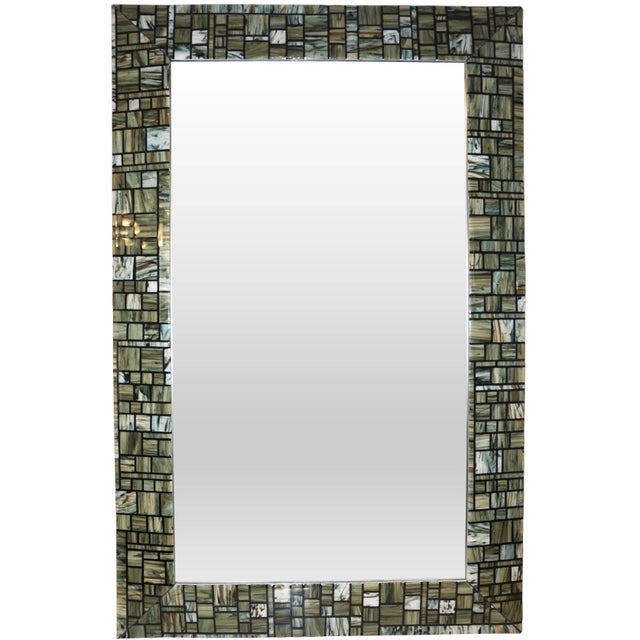 Contemporary Italian Murano glass mirror, exclusive Venetian work of art for Cosulich interiors by Veve Glass, skillfully...