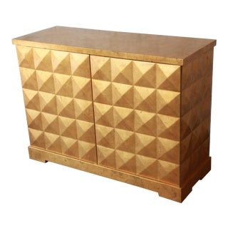 Barbara Barry for Baker Furniture Diamond Gold Leaf Cabinet or Credenza For Sale