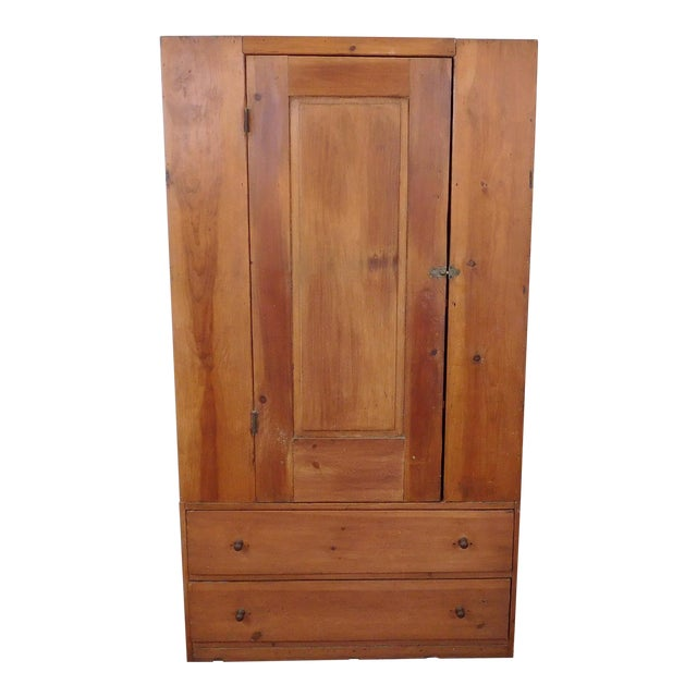 Antique 19th-Century American Pine Cabinet - Image 1 of 11