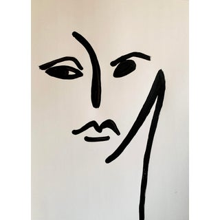 Original Abstract Face Drawing For Sale