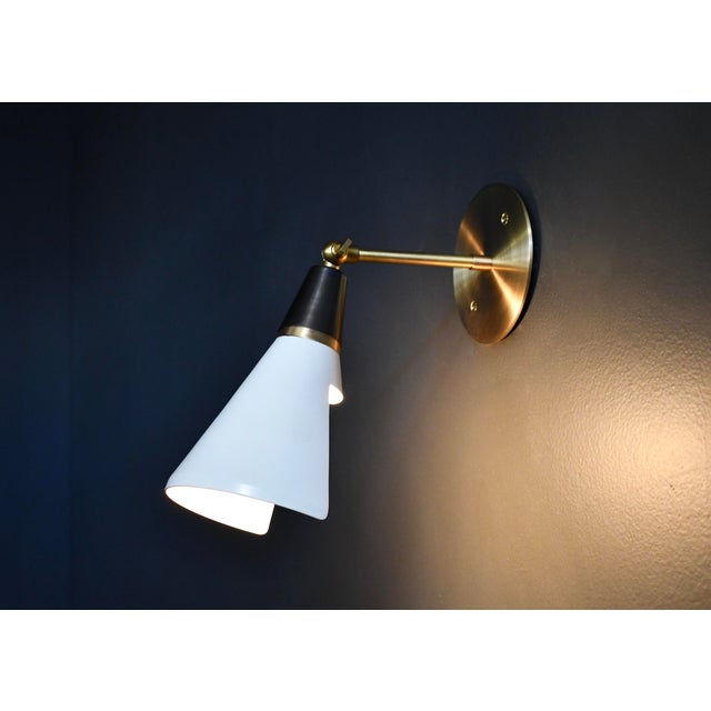 Not Yet Made - Made To Order Magari Adjustable Wall Lamp in Black, White & Brass by Blueprint Lighting For Sale - Image 5 of 8