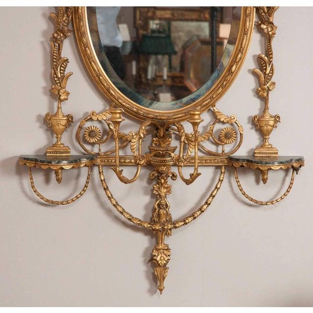 George III Style Giltwood Girandole Mirror For Sale - Image 4 of 11