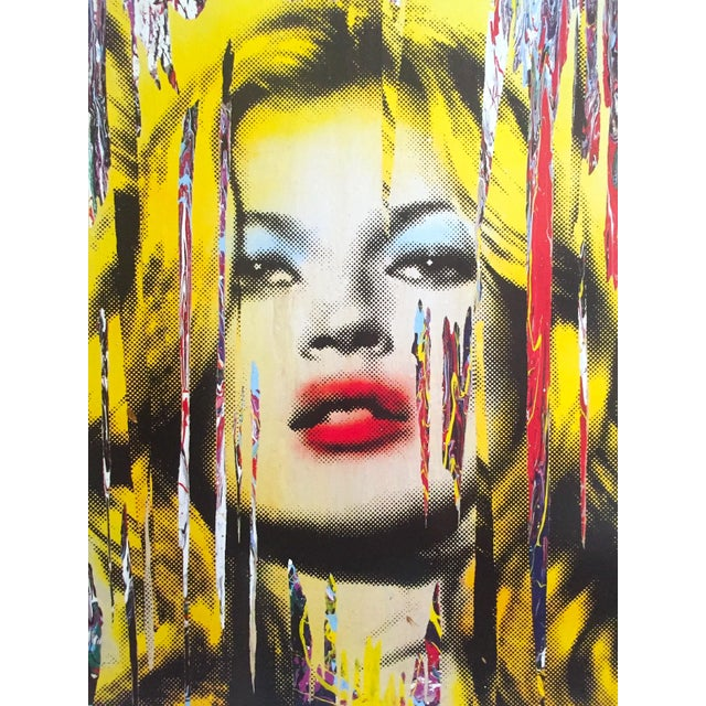 """Various Artists Mr. Brainwash """" Kate Moss """" Rare Authentic Lithograph Print Pop Art Poster For Sale - Image 4 of 13"""