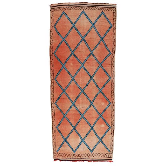 Vintage Moroccan Berber Modern Tribal Style Gallery Rug - 5′7″ × 13′3″ - Image 7 of 7