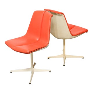 Pair Vintage 1960's Knoll Chairs Richard Schultz For Sale