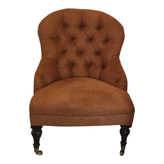 Williams Sonoma Carlyle Chair - Faux Suede - Chestnut, Custom Built 2016